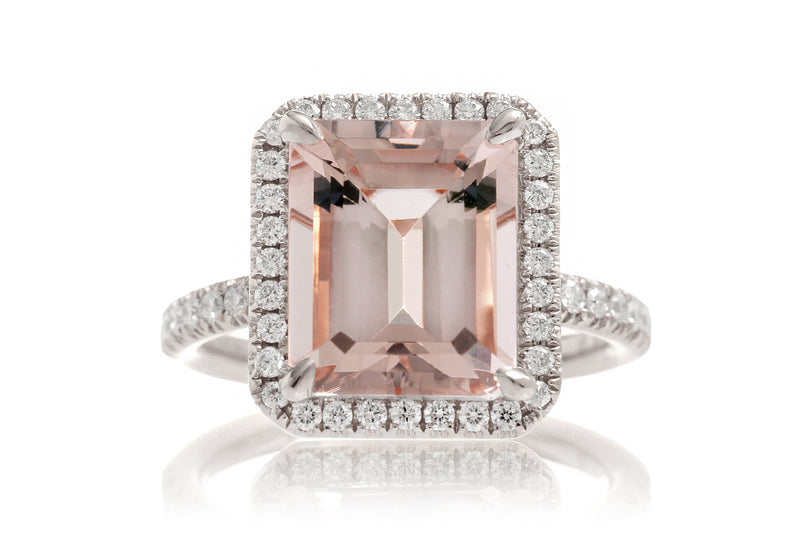 The Drenched Emerald Cut Morganite