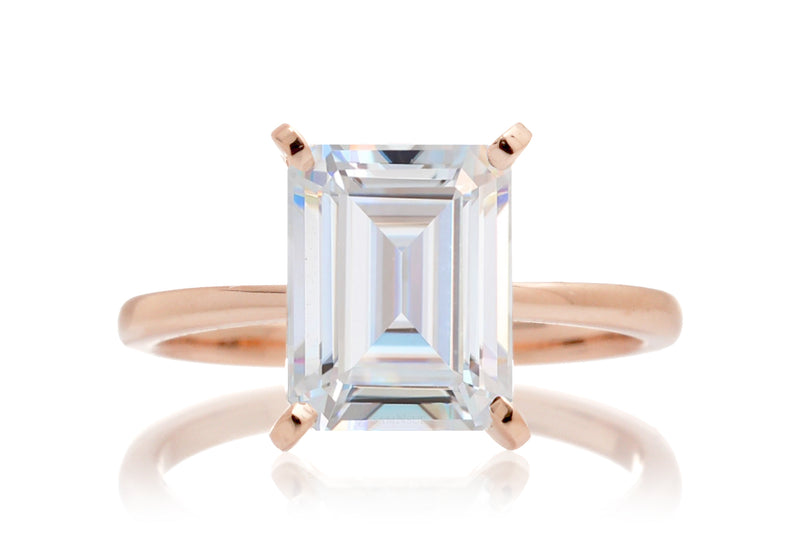 The Adeline Emerald Cut Moissanite