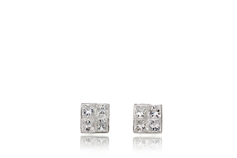 The Princess Diamond Cluster Studs (1/3ct. tw.)