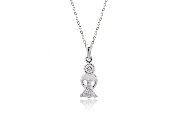 The Boy And Girl Diamond Charm Pendant