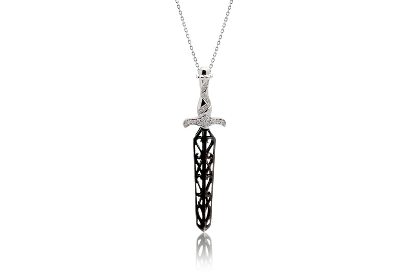 The Black Sword Diamond Pendant