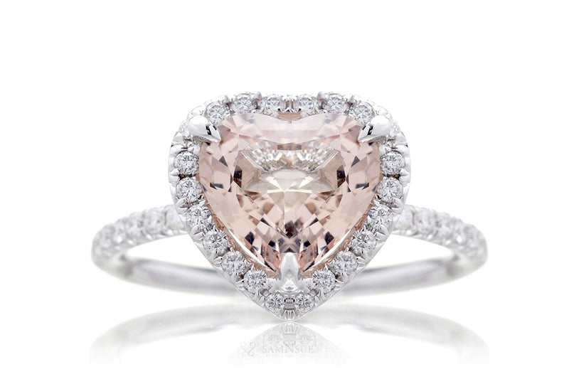 The Drenched Heart Morganite