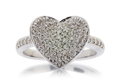 Woman Valentine's Pave Diamond Ring