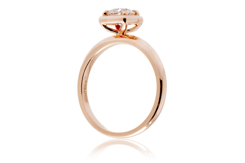 The Jane Round Solitaire Ring (5.5mm)