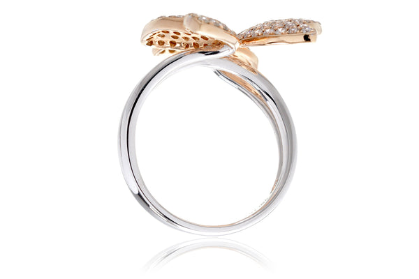 The Pavé Diamond Butterfly Ring