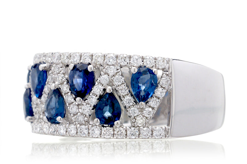 The Ivonne Pear Sapphire Ring