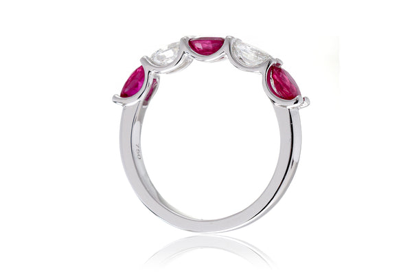 The Ursula Oval Ruby Band (Five Stone)