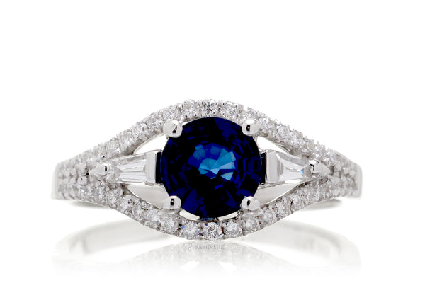 The Doheny Round Sapphire Ring