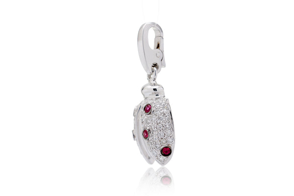 The Lady Bug Ruby Charm Pendant