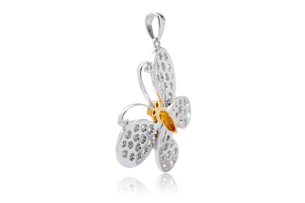 The Large Pavé Diamond Butterfly Pendant