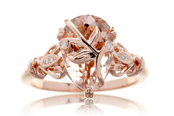 The Leaf And Vine Pear Morganite