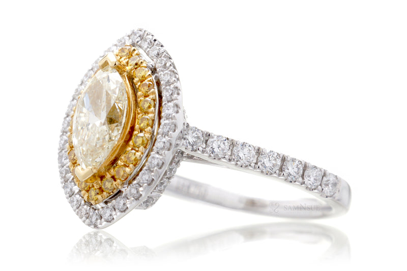 The Astoria Yellow Marquise Diamond (2.18 ct. tw.)