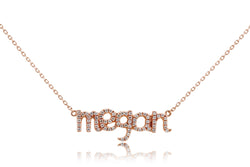 The Initial Megan Pave Pendant