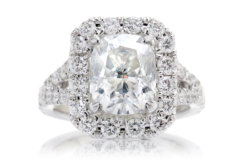 The Meghan Cushion Moissanite