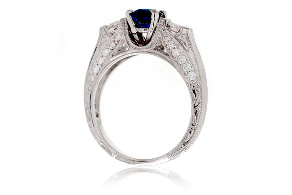 The Miley Oval Sapphire Ring