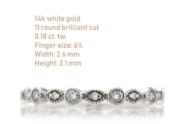 Stackable Diamond Bands - Liquidation