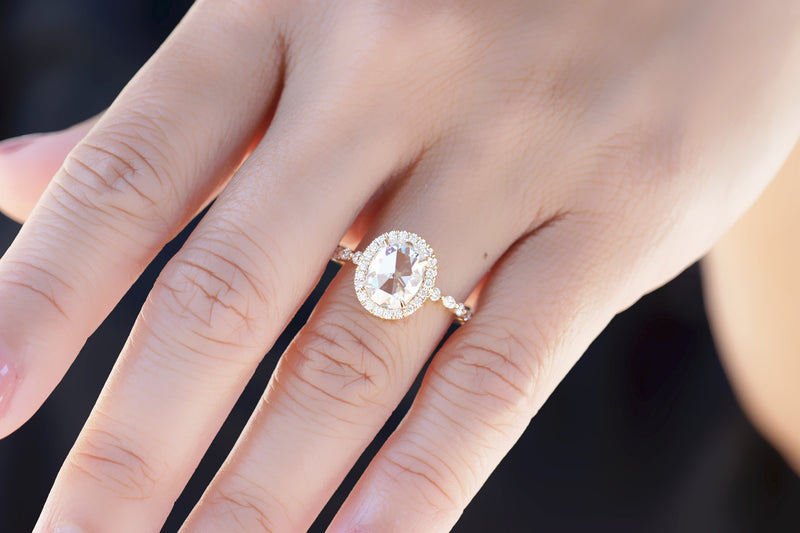 The Nora Rose Cut Oval Moissanite