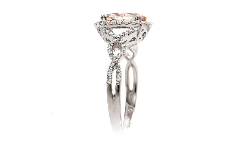 The Shelly Oval Morganite