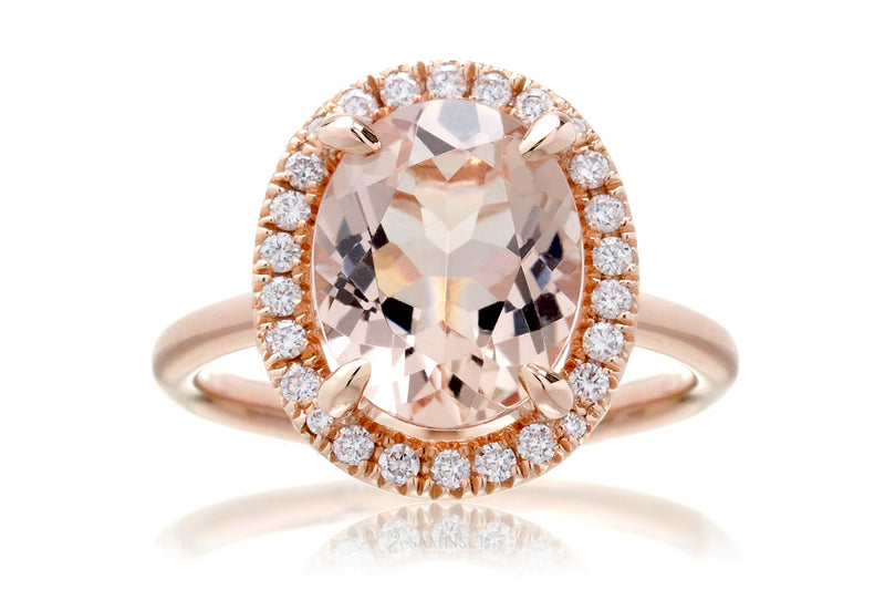 The Drenched Oval Morganite