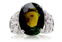 The Betsy Oval Green Tourmaline