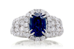 The Thelma Oval Sapphire Ring