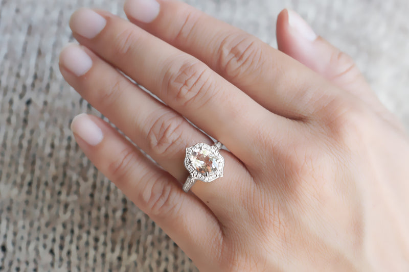 The Genevieve Oval Morganite