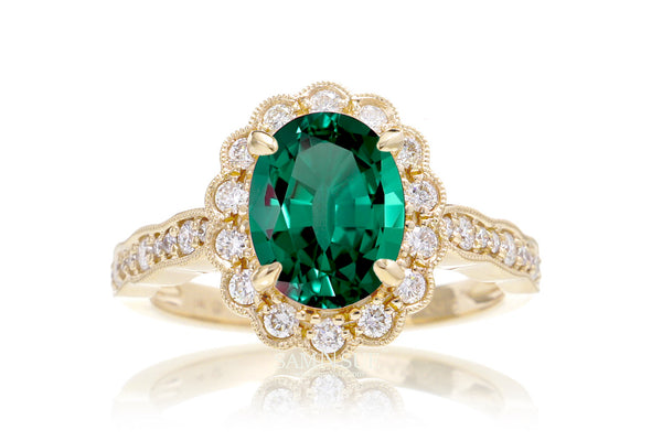 The Scallop Oval Chatham Emerald
