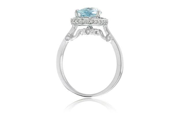 The Carla Pear Aquamarine