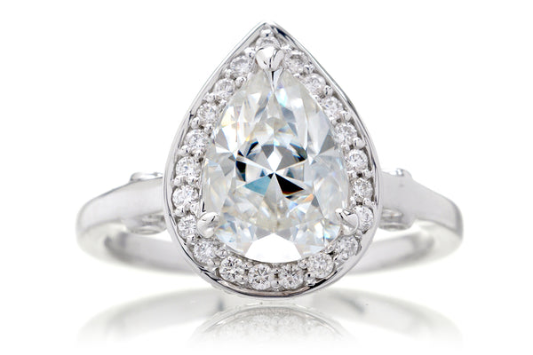 The Carla Pear Moissanite