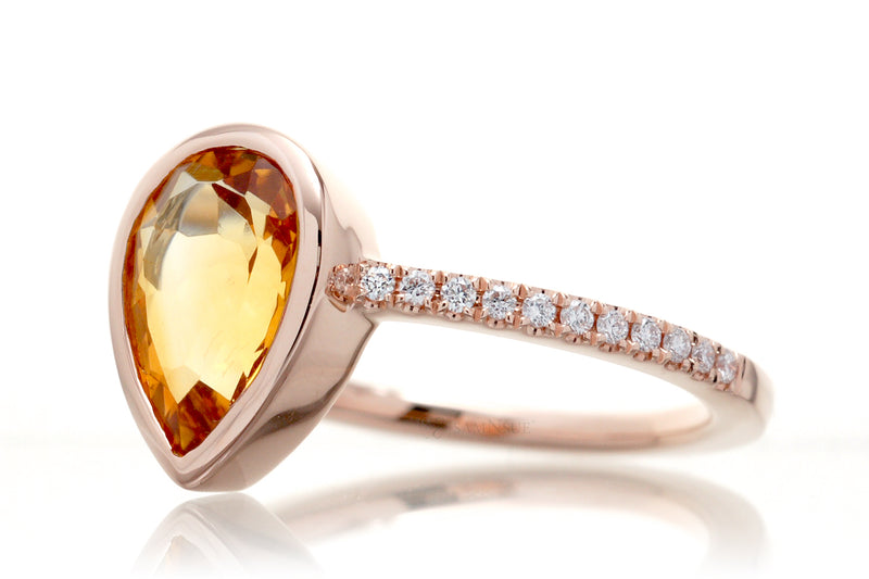 The Beverly Pear Citrine
