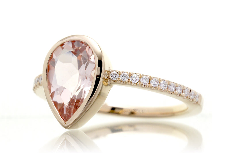 The Beverly Pear Morganite