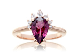 The Pacey Pear Rhodolite Garnet