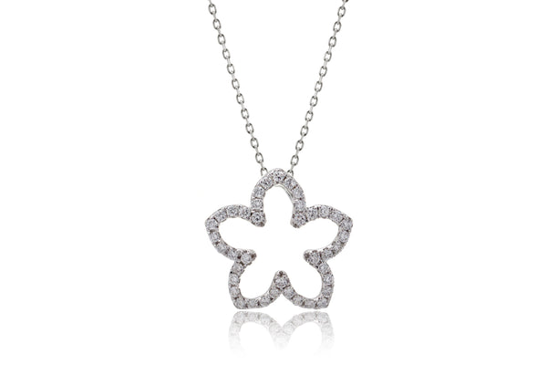 The Plumeria Diamond Pendant