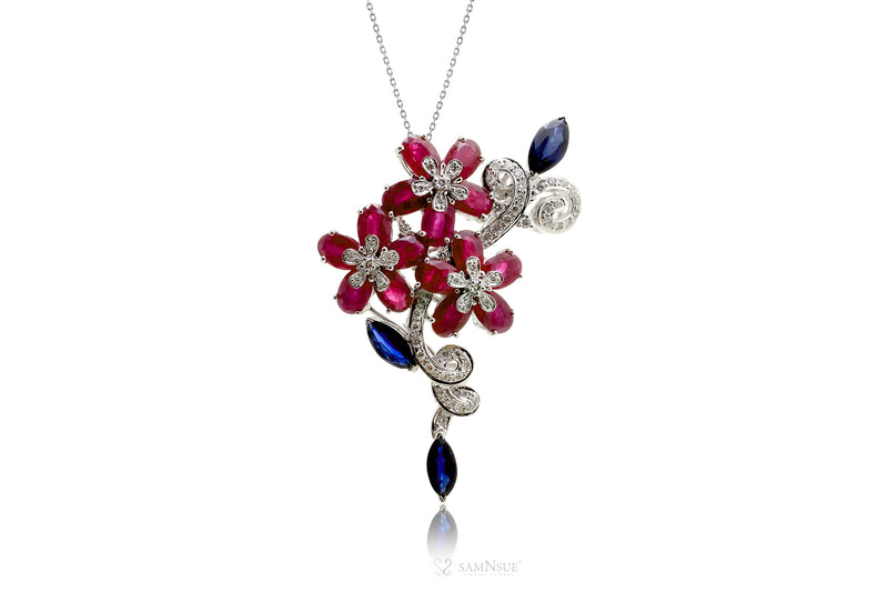 The Blossom Ruby Diamond Slide | Pendant