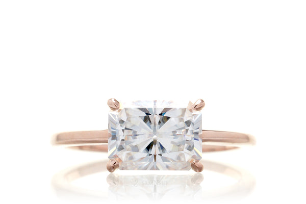 The Lynn Radiant Moissanite (8x6mm)