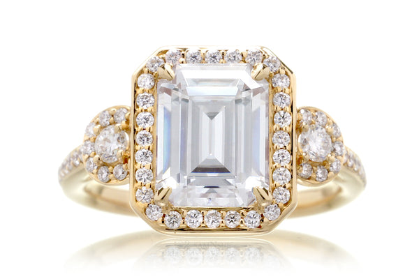 The Nancy Emerald Cut Moissanite