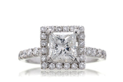 The Princess Cut Diamond Halo (E.G.L. F/VS1)