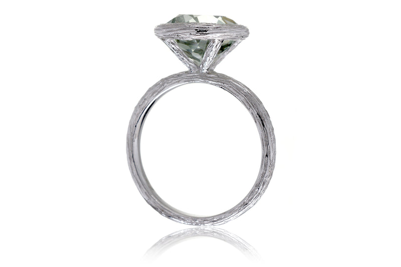 The Twig Round Prasiolite Ring (10mm)