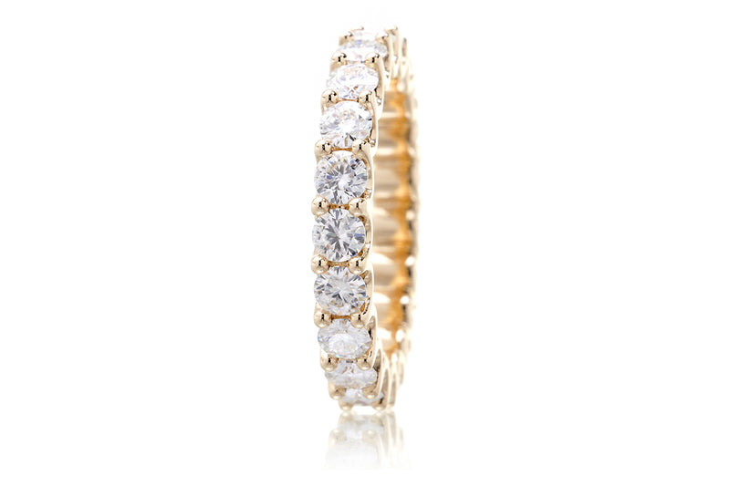 The Ursula Round Moissanite Eternity Band
