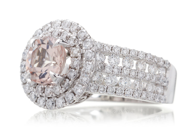 The Gertrude Round Morganite