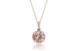 The Signature Round Morganite Pendant (7mm)