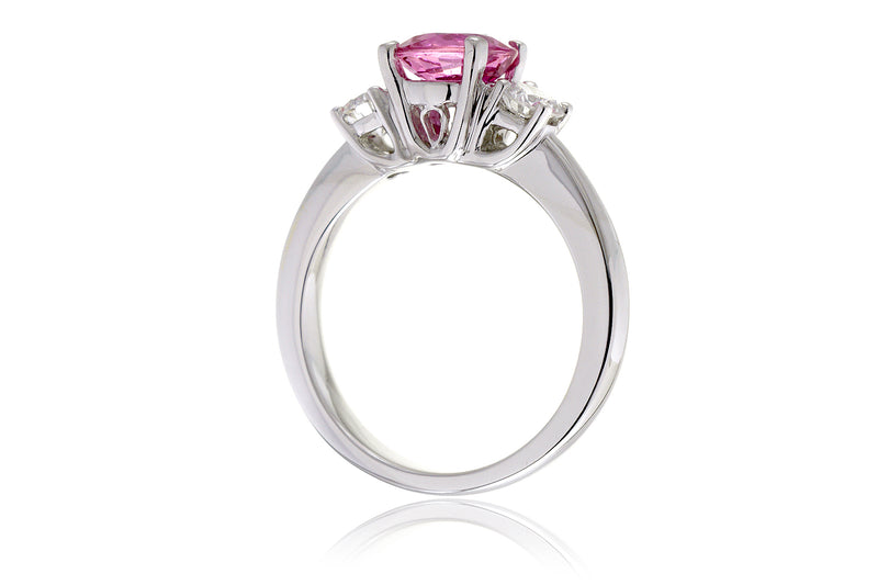 The Mandy Round Pink Sapphire (7mm)