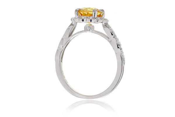 The Scallop Round Yellow Sapphire (7mm)