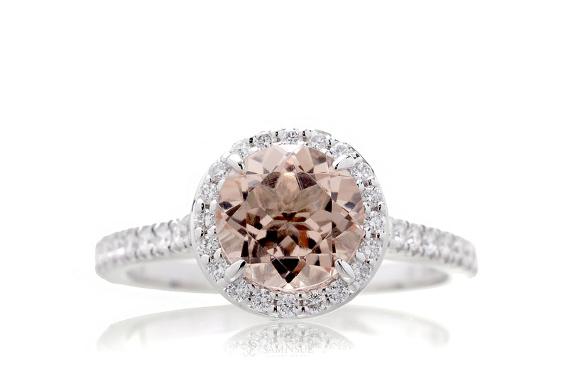 The Sunset Round Morganite