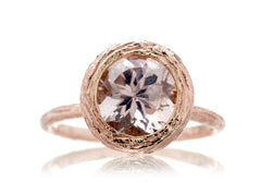 Twig Round Morganite Ring (8mm)