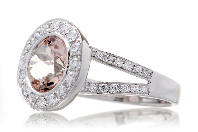 The Effie Round Morganite (9mm)