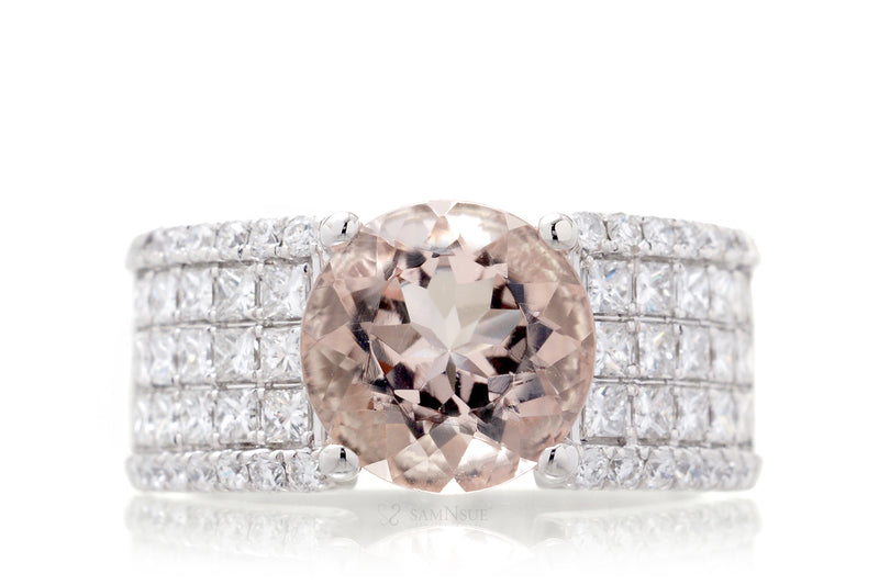 The Kelly Round Morganite (9mm)