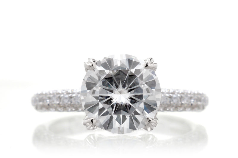 The Leila Round Moissanite