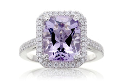 Cushion Rose De France Diamond Halo Engagement Ring | The Signature