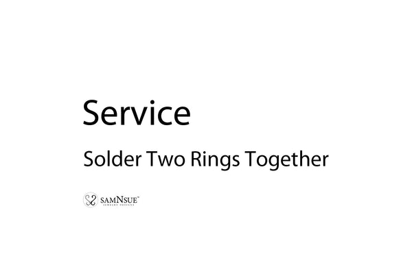 Service - Solder Two Rings Together